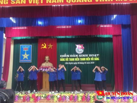 """Tổ chức thành công diễn đàn """"Đảng với Thanh niên - Thanh niên với Đảng"""" tại xã Cẩm Duệ"""