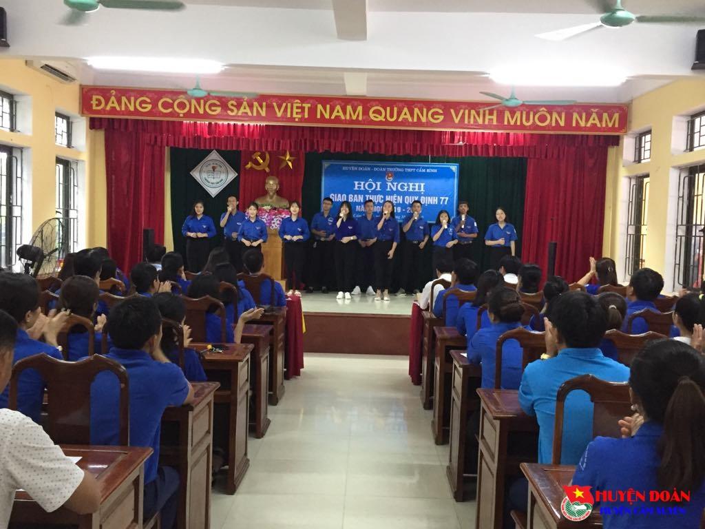 Tổ chức Hội nghị giao ban quy định 77, năm học 2019 - 2020
